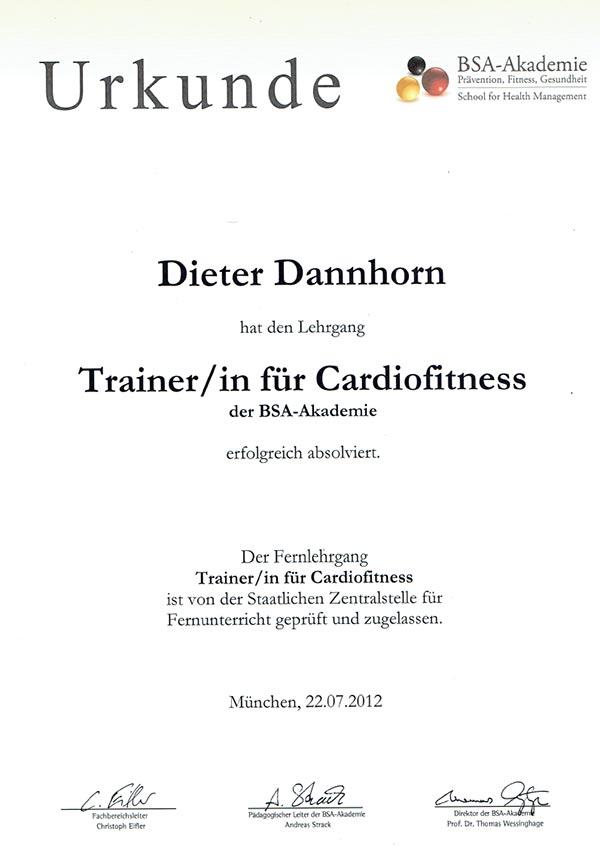 Cardiofitness-zertifikat
